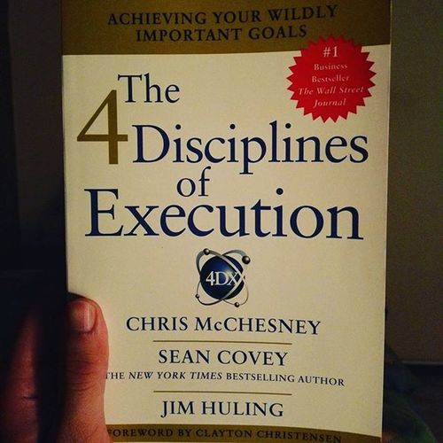 Today instead of my normal tv shows I start this amazing learning path with an amazing book for amazing achievers. Thanks for this awesome present :) Seancovey 4DX Wildlyimportantgoals 4disciplines FranklinCovey