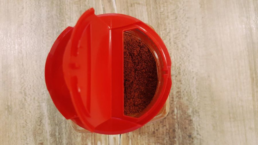 Paprika Shaker Close-up Cooking Cooking At Home Cover Day Dosière High Angle View Indoors  Kitchen Utensils No People Opening Paprika Preparation  Preparing Food Red Sharp Sharpen Spice Spices Still Life Wood - Material