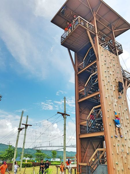 And they said conquer your fear... Fearofheights Wallclimbing Rappeling Freefalling People Together People Watching Heartbeat Moments Icandothis Letsdothisagain Weekend Getaway in Porac, Pampanga