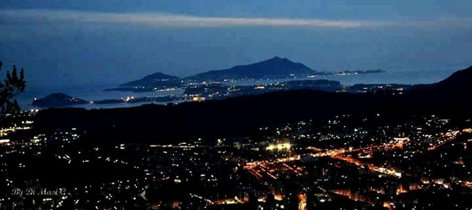 Tramonto sul golfo Nap Napoli Napoli ❤ Napoli La Più Bella Del Mondo Naples, Italy Sunset Night City Cityscape Mountain No People Outdoors Illuminated Nature Sea Urban Skyline