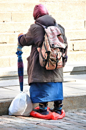 A taste of the Baltics Baltic Baltic Countries Begging Poor  Adult Baltic States Beggar City Females Footpath Full Length Homeless Homelessness  Lifestyles Outdoors People Poor People  Positive Emotion Poverty Real People Rear View Sidewalk Social Issues Street Women
