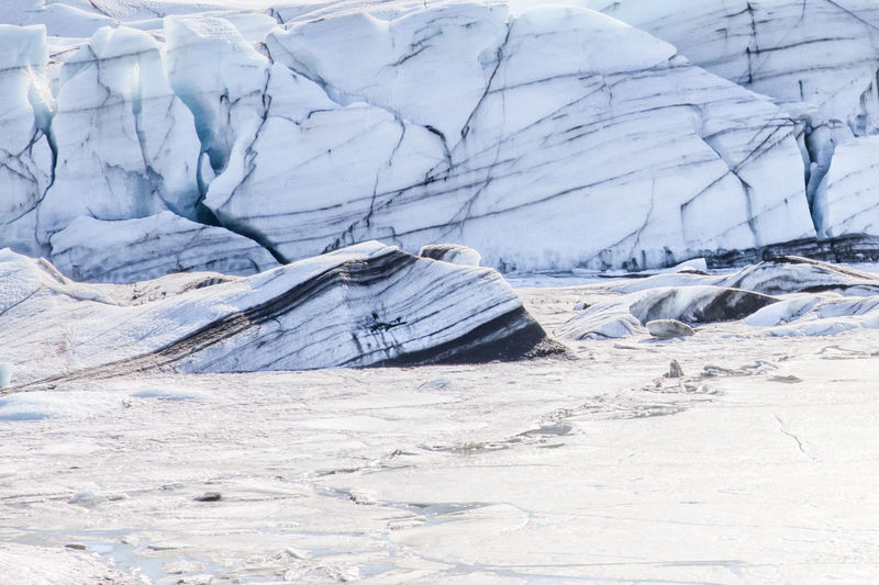 Glacier svinafellsjokull - iceland Winter Cold Temperature Snow Environment Ice Nature Landscape No People Glacier Day Cold Land Outdoors Tranquility Climate Change Frozen White Color Beauty In Nature Environmental Issues Iceland Svínafellsjökull