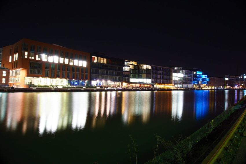 Hafen Münster Münster Hafen Münster Impressionen Münsterliebe Architecture Building Exterior Built Structure City Cityscape Illuminated Modern Ms4life Münsterland Nature Night No People Outdoors Reflection Sky Travel Destinations Water