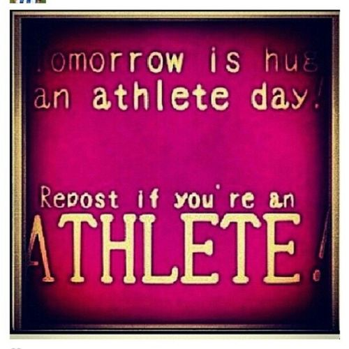 Today is HugAnAthlete Day