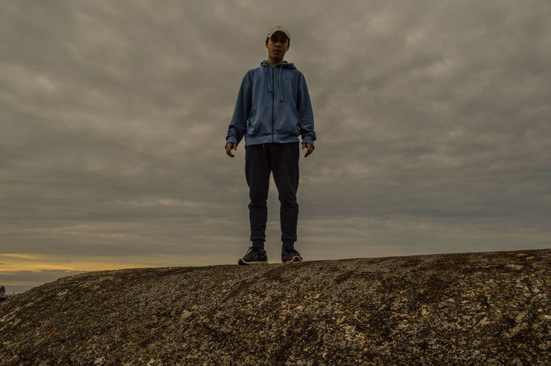 Casual Clothing Cloud - Sky Day Full Length Nature Nikon Nikon D3200 Nikonphotographer Nikonphotography One Boy Only One Person Outdoors People Real People Sky Standing Sunset