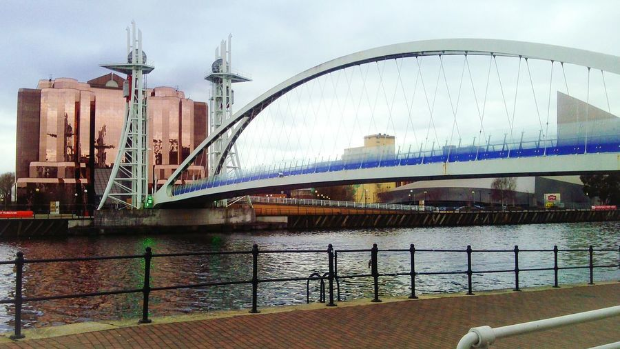 Bridge in Salford Quays. Leads to itv studios I think.. Bridge Salford Salford Quays Urban Manchester