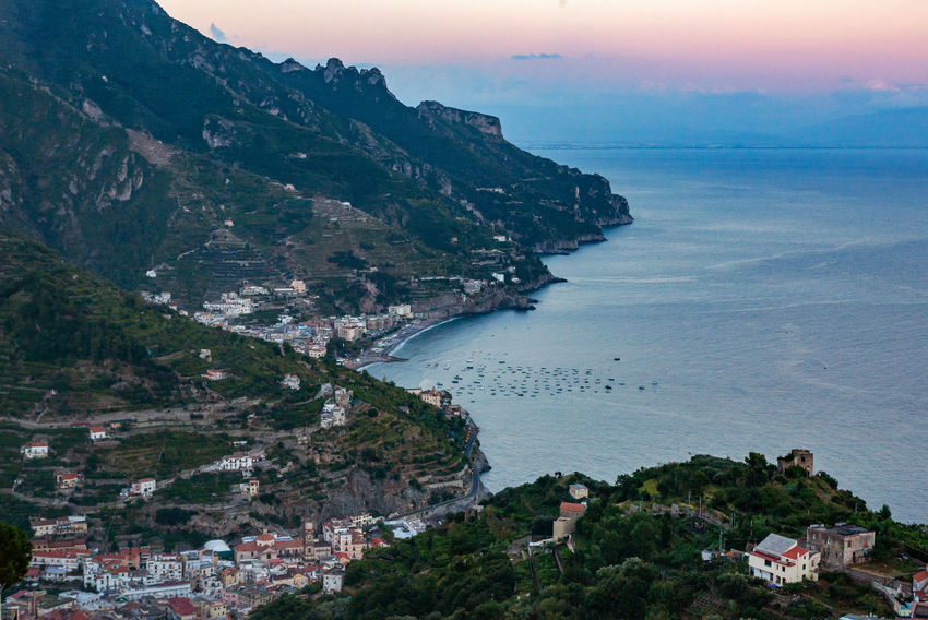 Amalfi Coast Mediterranean Sea Architecture Beach Beauty In Nature Building Exterior Day Horizon Over Water Italy Mountain Nature No People Outdoors Scenics Sea Sky Water