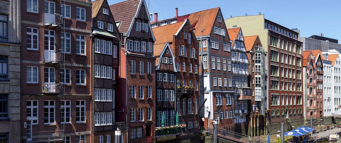 Hamburg City - Speicherstadt Elbe River Hamburg Houses Panorama Panoramic Architecture Axvo Building Building Exterior Buildings City Day Elbe Houses And Windows No People Outdoors Panoramic Photography Street Streetphotography