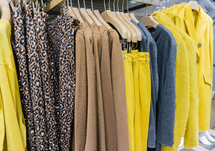 Colorful knit sweater cashmere on a clothes rack Autumn Boutique Clothes Stand Colours Department Store Fashion Hanger Buy Cashmere Cashmere Sweaters ♡ Clothes Clothing Cord Sweater Knit Knitwear Ladies Sweater Lady Fashions Pull Retail Trade Sales Snugly Softy Sweater Trade Wool