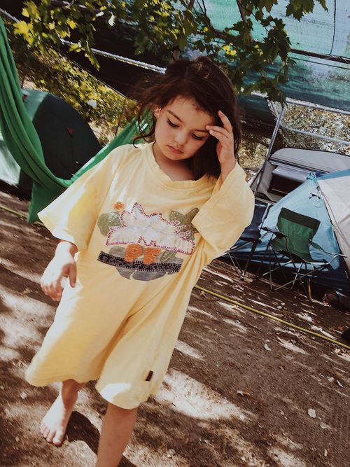 One Person Front View Day Walking Girl Camping Vacations Tents BIG Tshirt Hair Touching VSCO Visual Creativity