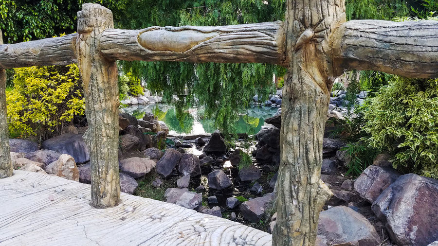 Bolivia City City Park Fountain Bridge - Man Made Structure Day Nature No People Outdoors Pattern Rock - Object South America Tree Water Wood - Material