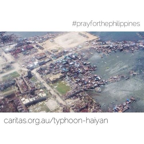 Typhoonhaiyan has been devastating for the Philippines - if you're still wondering who you can donate to, my work (Caritas Australia) is running an appeal and already working with partners on the ground. To donate, head to www.caritas.org.au/typhoon-haiyan - Photo thanks to SCIAF and Caritas Internationalis