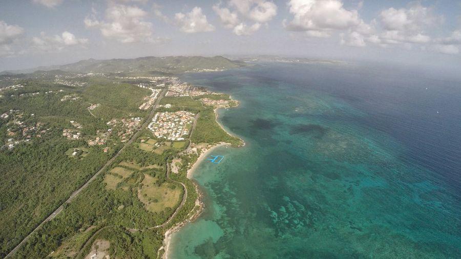 Sainte Luce, Martinique Aerial View Beach Blue Cloud - Sky Drone  Exotic Gopro Hero5 Island Karma Lagoon Madinina Martinique Sand