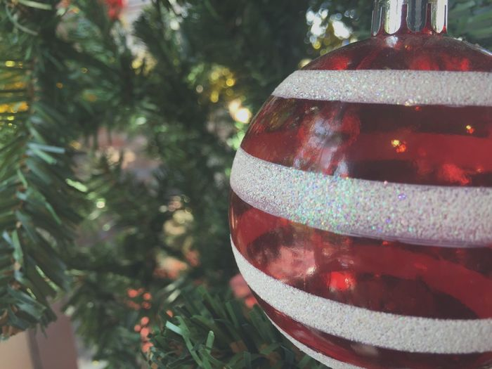 Red Ball Celebration Christmas Decoration Tradition Christmas Ornament Decoration Close-up Tree No People Indoors  Focus On Foreground Holiday - Event Celebration Event