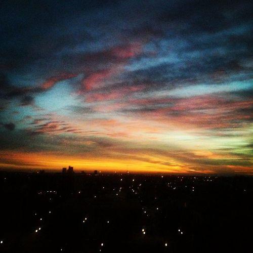 Ealier this Morning 3rd Allnighter Ttuarch Blue orange sunrise landscape sky texas lubbock