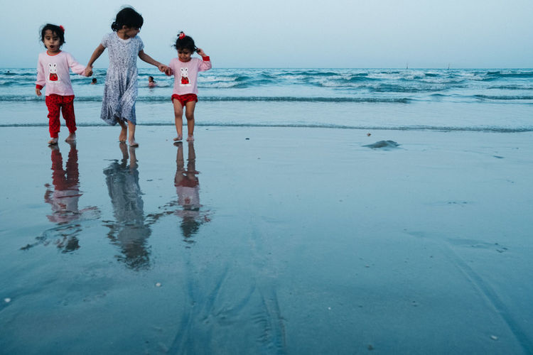 Kuwait Young Women Water Full Length Friendship Child Standing Togetherness Women Girls