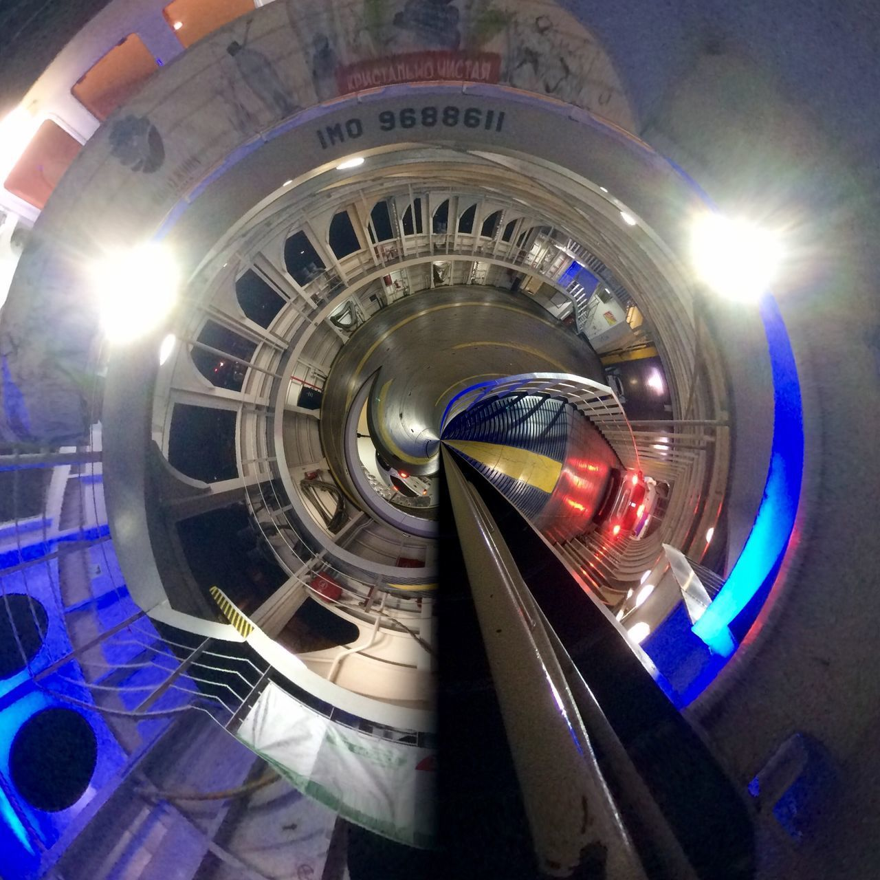 built structure, architecture, no people, indoors, illuminated, fish-eye lens, day, close-up