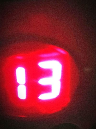 13 Red Number Digital Display Time No People Illuminated Close-up Indoors  First Eyeem Photo