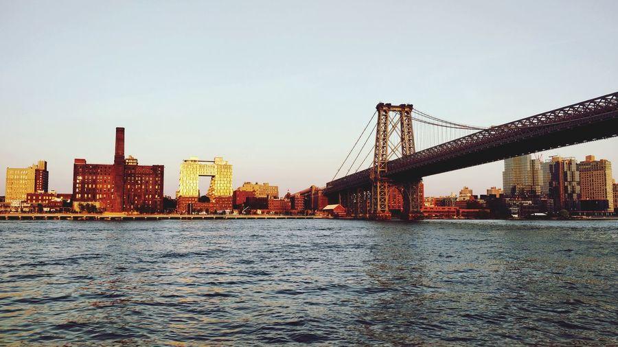 the Brooklyn bridge... Brooklyn Bridge / New York New York City Brooklyn Bridge  Hudson River City Cityscape Water Urban Skyline Skyscraper Bridge - Man Made Structure Modern Sky Architecture Built Structure