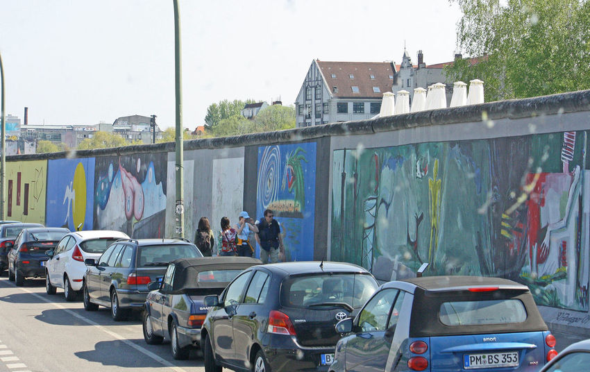 A Taste Of Berlin Berlin Photography Architecture Berlin Wall Graffiti Building Exterior Built Structure Car City Day Land Vehicle Large Group Of People Men Mode Of Transport Outdoors People Real People Transportation #FREIHEITBERLIN