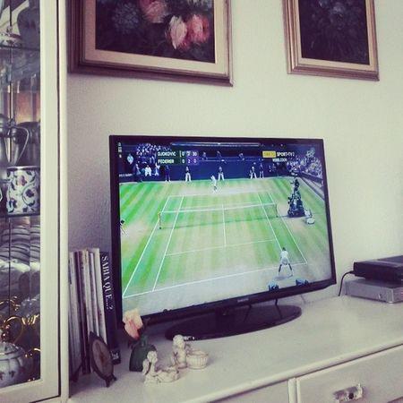 GO Nole ! Watching @djokernole at @wimbledon Djokovic Wimbledon Federer