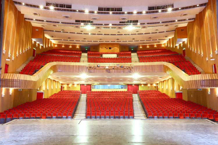 Illuminated lights stage theater