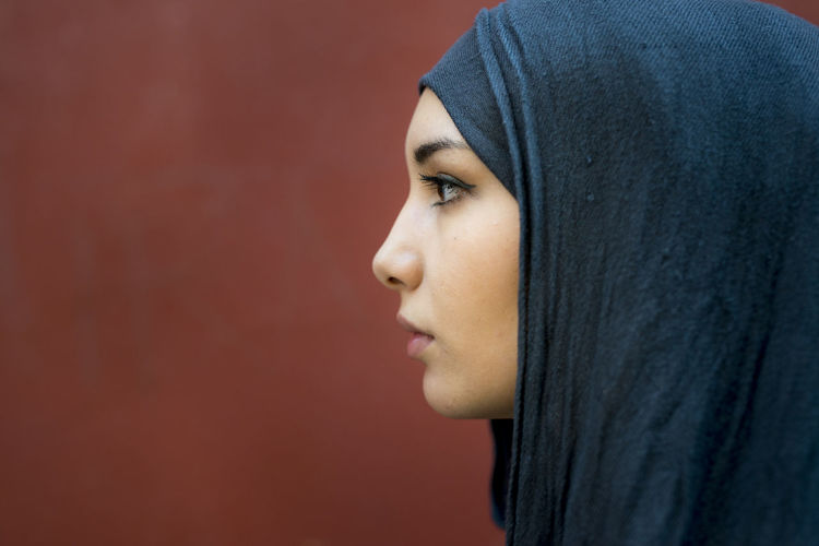 Young woman looking away