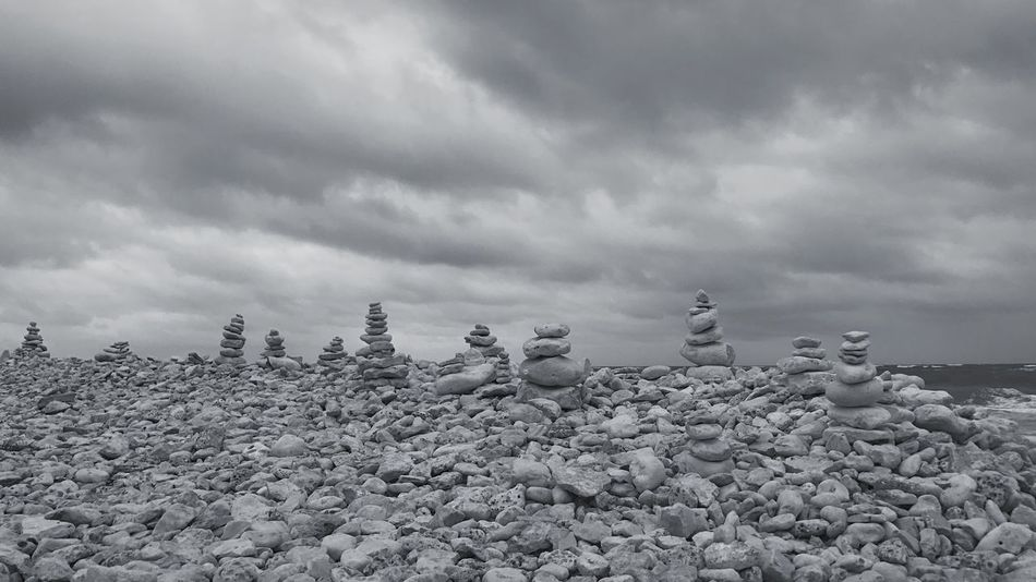 Stones And Pebbles Seashore Beach Ocean Sea Clouds And Sky No People Outdoors Stormy Weather Stones & Water Sea And Sky