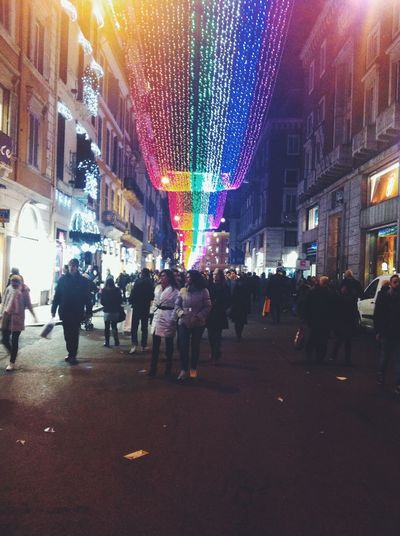 One mile of Peace and Gay Pride from Piazza del Popolo to Piazza Venezia, in Roma Christmas