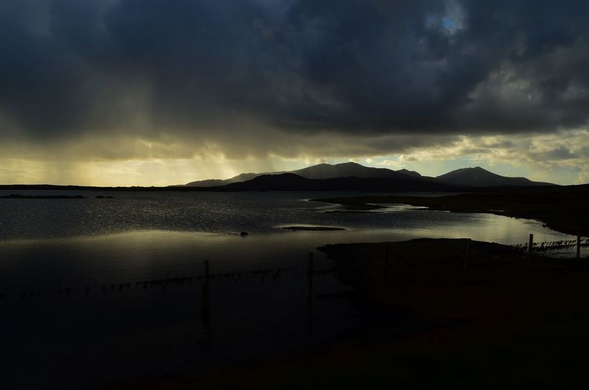 Atmosphere Atmospheric Mood Clouds Lake Light Loch  Lochan Tranquil Scene Uist Water Western Isles