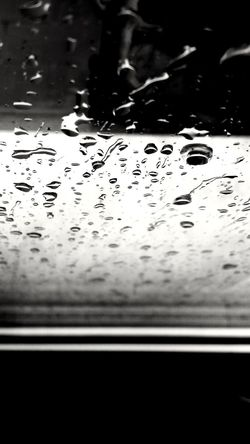 Black & White Light And Shadow Blackandwhite Outdoors Day No People Nature Beauty In Nature Rain RainDrop Water