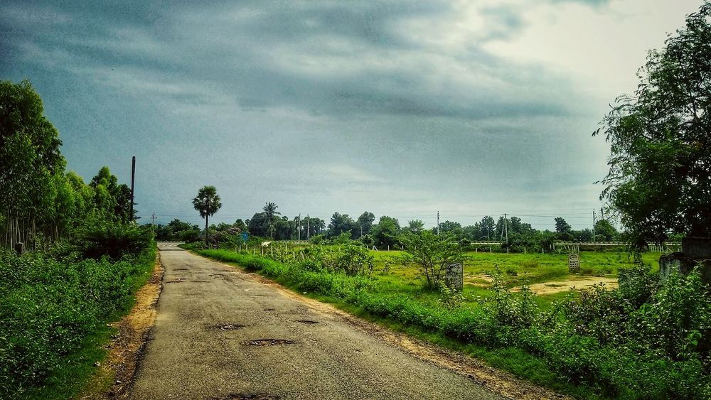 """""""path of nature"""" Nature Fresh Beauty Environment Glowing Sky Thunder Clouds Clouds Path Life Travel Mood Village Road Street View Tree Rural Scene Agriculture Field Sky Grass Animal Themes Cloud - Sky Green Color Landscape Growing Young Plant Growth Farmland In Bloom"""