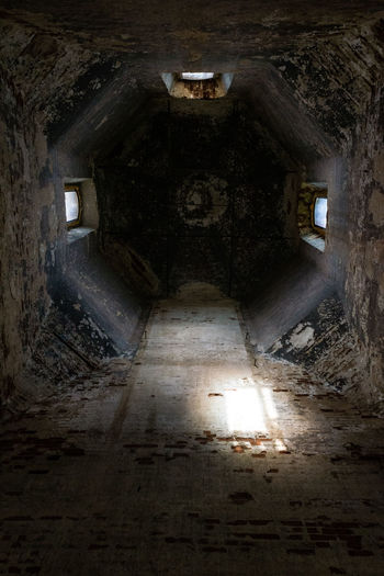 Abandoned Architecture Ceiling Church Dark Illuminated Indoors  Light Lighted No People Old Ray Of Light Up