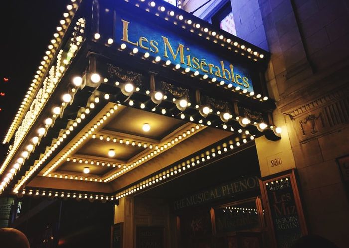 Musical Theatre Musical Comedy Musical Comedy Theatre Les Misérables Musical Musicals Theatre Illuminated Night Architecture Low Angle View Built Structure No People Building Exterior