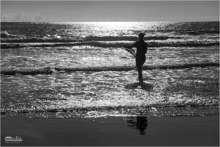 The sea is my home. Surfer Girl at Beach in New Plymouth Streamzoofamily
