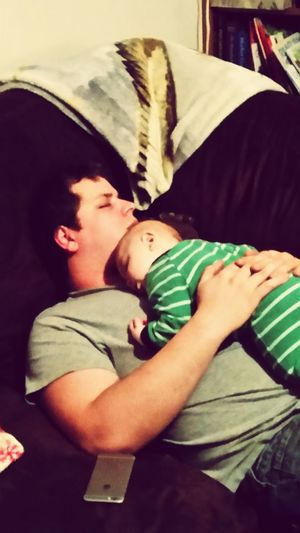 A little father son bonding... :) Sleepyheads