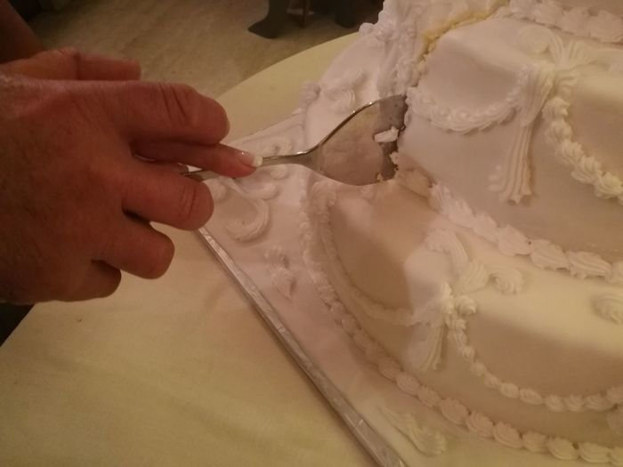 Cutting the wedding cake Bride Cake Close-up Couple Cutting Day Groom Hands Human Body Part Human Hand Indoors  Real People Symbol Symbolic  Togheter Togheterness Wedding