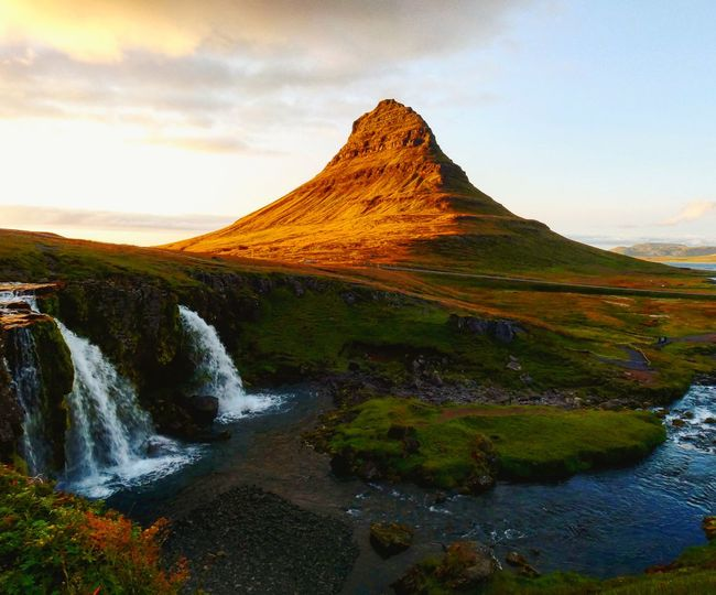 Iceland Lake View Blue Sunset Mountain Water Waterfall Sky Landscape Grass Cloud - Sky Travel Natural Landmark Rugged Volcanic Landscape Active Volcano Geology Hot Spring Volcanic Rock Volcano Physical Geography Bromo-tengger-semeru National Park East Java Province Sandstone Volcanic Crater Volcanic Activity