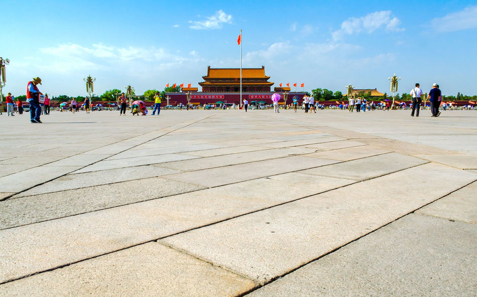 Tiananmen Square and Gate of Heavenly Peace in Beijing, China. Ancient Ancient Civilization Architecture ASIA Asian Culture Beijing Beijing, China China Chinese City Culture Destination East Emperor Forbidden Heritage Historical Monuments Imperial Imperial Palace Landmark Palace Tourim Traditional Travel Destinations Unesco World Heritage