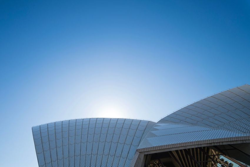 Architecture Clear Sky Blue Built Structure Building Exterior Modern Low Angle View No People Day Outdoors Futuristic Sky Sydney Opera House