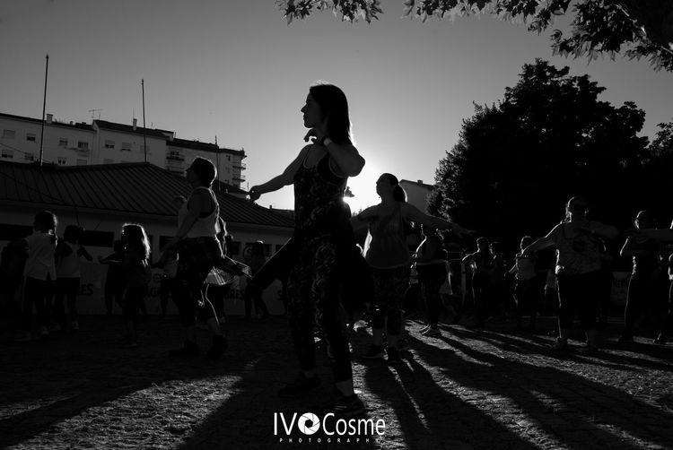 Real People Large Group Of People Outdoors Day People Dance Zumba Fitness Serradaestrela Seia Portugal