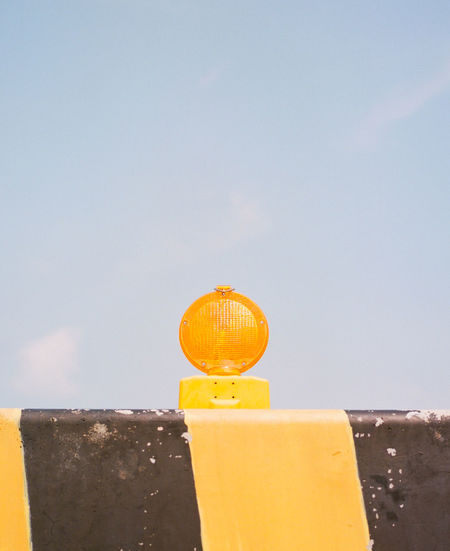Sky No People Yellow Day Nature Citrus Fruit Orange Color Outdoors Food And Drink Copy Space Close-up Low Angle View Food Freshness Wall Architecture Clear Sky Orange - Fruit Orange Built Structure The Minimalist - 2019 EyeEm Awards