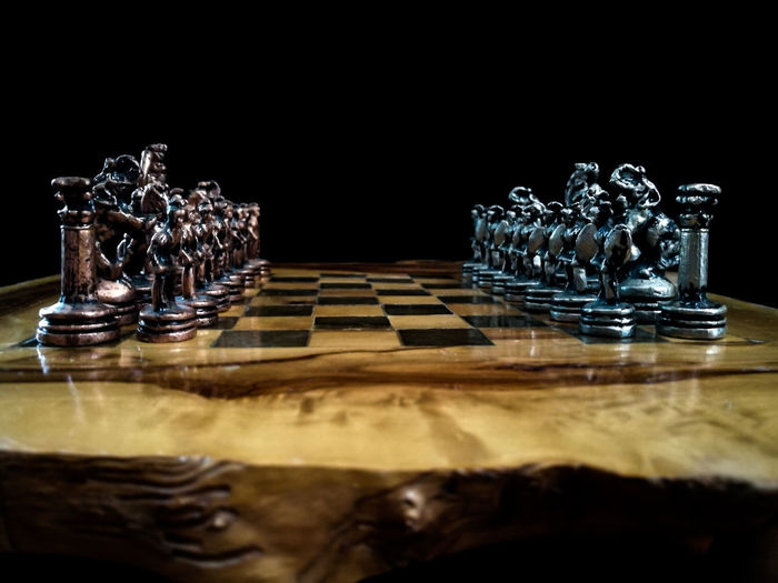 Chess Board Close-up Kings And Queens Chess Brain Game Concentration Battle Wood #FREIHEITBERLIN