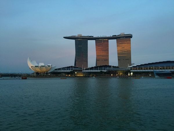 Cityscapes Marina bay sands hotel in Singapore Marinabaysands Singapore Merlion