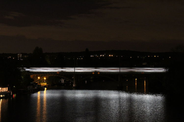 Light Seine Architecture Illuminated Long Exposure Night Reflection River Train Water Adventures In The City