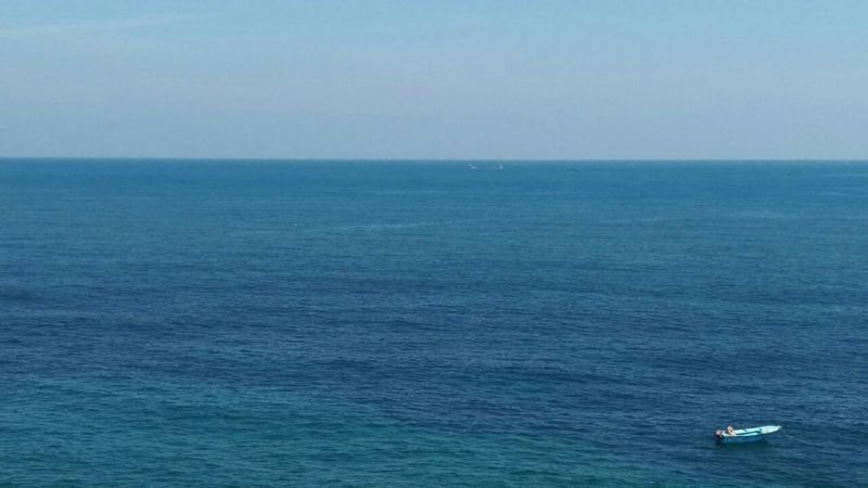 Beautiful day in Alexandria At The Corniche The Place I'm Now A Place I Love Stunning Water Color Wonderful Seaview Blue Sea And Clear Water Blue Sky Relaxing Enjoying Life Check It Out