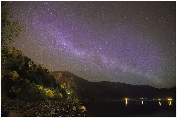 Vía Láctea sobre el Lago Gutierrez Lake Night Milk Way Milk Way Galaxy Night Lights Nightphotography Nigthphotography Star - Space Stars