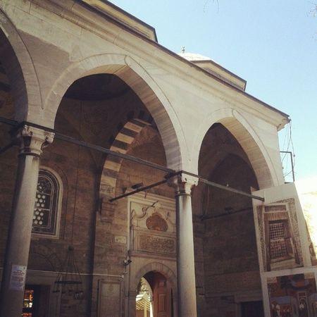 Eyüpsultan  Mosque Square Fatih oldcity historic building door green istanbul turquie