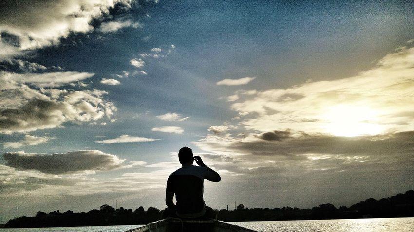 Nofilter Nature Sky Whiteriver River Boat Followme