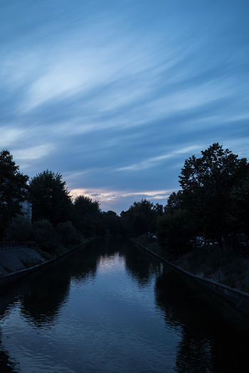 Berlin Beauty In Nature Canal Cloud - Sky Germany Growth Lake Nature No People Plant Reflection Scenics - Nature Sky Tranquil Scene Tree Water Waterfront
